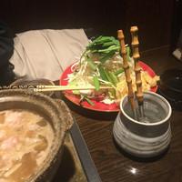 魚大将 うまかっぺや-牛ホルモン鍋¥980(税別) 2017年1月大盛サービスを中!