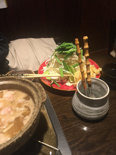 魚大将 うまかっぺや - 牛ホルモン鍋¥980(税別) 2017年1月大盛サービスを中!