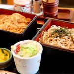 いづみ - 料理写真:ざるそばかつ重