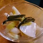 樽平 - 雪菜のふすべ漬け