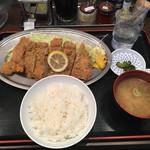 昭和食堂 - 牛カツサーロイン定食880円