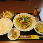 奏 - 料理写真:回鍋肉定食