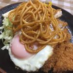 フクノヤ - チキンカツ&目玉焼き