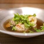 SUGALABO - 秋田きりたんぽ、比内地鶏とフォアグラのつくね、雪国舞茸