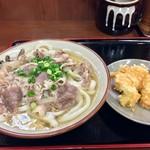 讃岐うどん いわい - 肉うどん+鶏天(2017.01)