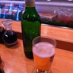 すし哲 - 瓶ビールはハートランド