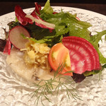 レストラン タイラ - 渡り蟹とホタテのテリーヌ
