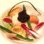 レストラン タイラ - カリフラワーのムース、アキテーヌのキャビア添え