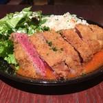 肉ビストロ&クラフトビール ランプラント - ランチタイム10食限定!オーブラック牛ビフカツ