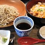 61840514 - 河内鴨の親子丼とお蕎麦
