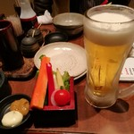 61840889 - お通し380円とビール199円