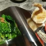 KISSHO KICHIJOJI - 菜の花のわさび和え&サワラオイル漬け