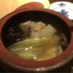 割烹 八彩 新大阪店 - 河豚の土瓶蒸しの中身