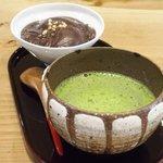 Nedutakajounedutakashou - 蕎麦がきぜんざい 945円 の抹茶