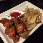 時間無制限食べ飲み放題 和奏 - 若鶏のフリットとフライドポテト