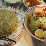 蒙古タンメン中本 - 冷やし五目味噌タンメン+麺超特大+野菜