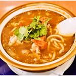 博士ラーメン別館 & HAKASE Thai 博士レストラン本店 - トムヤムクンラーメン 1296円 色々な旨味、刺激が詰まってます…が、ちょっと麺とのバランスがイマイチだったかなー。あと高い…