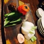 かもせ屋 - 生野菜まるかじり