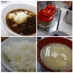 天ぷらのひらお - ◆天つゆは「大根おろし」タップリ。追加できるようですよ。 2種類の「塩」も用意され、どちらでも頂けます。 ご飯の質は普通。お味噌汁には賽の目に切ったお豆腐が入り薄め。