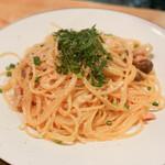 タルボット - きのことブロッコリーと明太子のスパゲティ