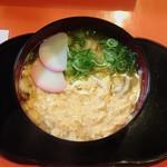 京 聖護院 早起亭うどん - おかあちゃんうどん  (卵とじうどん)¥400