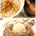 天ぷら料理 さくら - ミニ天丼 と デザート