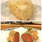 天ぷら料理 さくら - カマンベールチーズ と 明太子