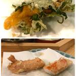 天ぷら料理 さくら - 雲丹と蟹