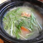 野鶴亭 - 朝食、味噌汁