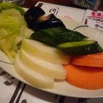 真希 - お新香(551円)♪人参、胡瓜、茄子、白菜、蕪のお漬物です。