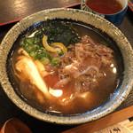 肉うどんの丸十 - 肉吸い(玉子、豆腐入り)(2016.1)