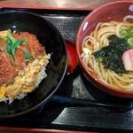 得得 - ロースカツ丼セット980円