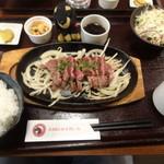 61874568 - 桜肉の激レアカルビステーキ