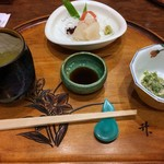 すっぽん鍋 鱧料理 三栄 - 前菜とお造り