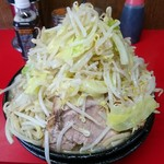61876883 - 大ラーメン(麺マシ+ヤサイニンニク)
