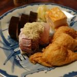 61879959 - (2016/12月)「盛り合わせ 鯖・ぐじ」「盛り合わせ いなり・箱寿司」