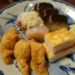 61879989 - (2016/12月)「盛り合わせ 鯖・ぐじ」「盛り合わせ いなり・箱寿司」