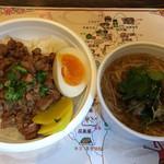61880132 - 魯肉飯(600円)+ 麺線ハーフ(100円)※OPEN二周年特別価格 2017.1