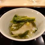 霞町 しろう - 河豚の白子天ぷらと葉山葵の天丼
