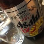 尾張屋 - 瓶ビール(お通し付き)(650円)2017年1月