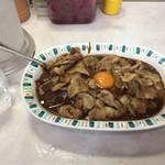バーグ 弥生町店 - スタミナカレー(生玉子入り)¥770-