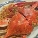 シロクマ食堂 - ワタリガニのパスタ