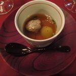 6189858 - クリスマス限定コース:シャラン鴨のコンソメスープ