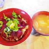 馬肉料理 さくら家 - 料理写真:【ランチ】 馬刺丼 だご汁 \980