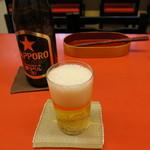 梅華楼 - 瓶ビール(550円)