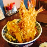 三喜 - 料理写真:おすすめ!! びっくり天丼 ¥1652
