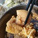 ふくろう亭 - 鶏つけ汁の鶏。