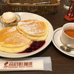 高倉町珈琲 - モーニングセットのリコッタパンケーキ