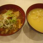 すたみな太郎 - 味噌もつ鍋、コーンスープ