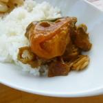 天下一品 - 近江ライスにカレースープを麺ごとかける